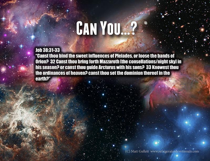 God asks Job: Can You?