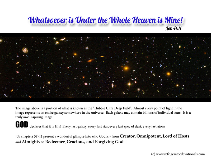 Whatever is under heaven is God's