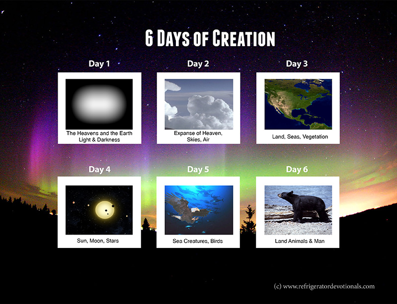 6 days of creation