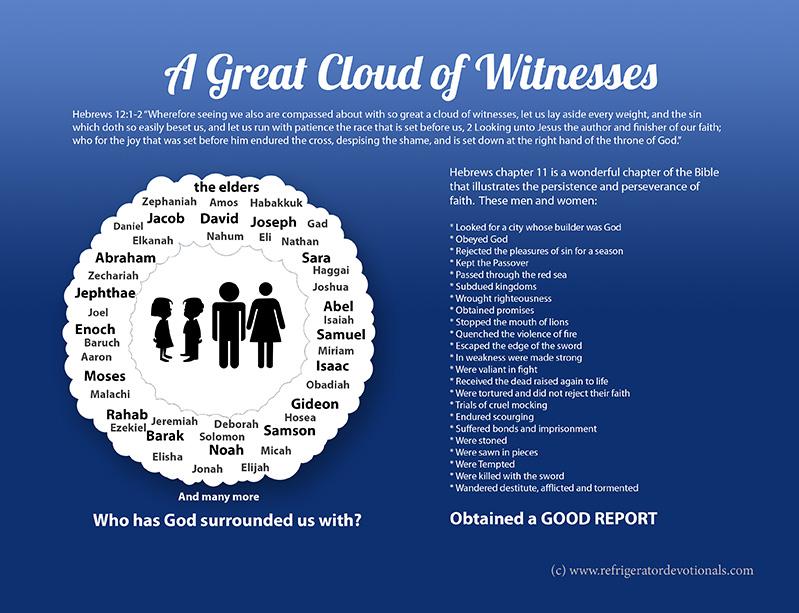 Great cloud of witnesses.  Hebrews 12:1-2